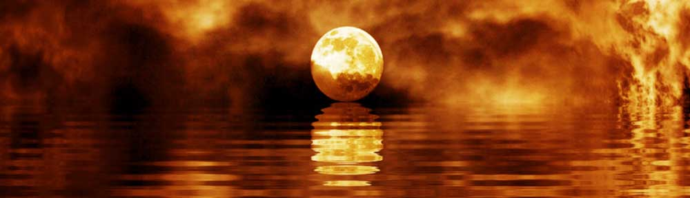 Ist das nicht schön - Mondbild am Wasser